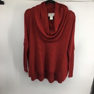 Ruby Moon Cowl Neck Sweater NWOT